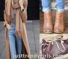 camel-trench-coat-outfit- Hijab outfits with matching bags and shoes…