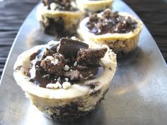 Thin Mint Cheesecake Cups
