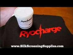 ▶ RyoCharge - new discharge additive to turn plastisol into discharge ink! - YouTube