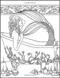 Mermaid Coloring Book for Adults Lovely Mermaids Calm Ocean Coloring Collection Selina Fenech Coloring Pages For Grown Ups, Adult Coloring Book Pages, Colouring Pages, Printable Coloring Pages, Coloring Books, Coloring Sheets, Mandala Coloring, Mermaid Coloring Book, Fairy Coloring