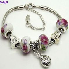 Fashion jewelry bracelet for women diy Crystal bracelet silver Plated bracelets charm bracelet S-A33