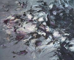 """""""AL CAER LA NOCHE """" Técnica mixta, acrílico, crayón de cera sobre lienzo . 100 cm x 120 cm Año de realización 2013"""