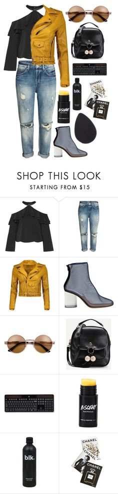 """Chanel"" by mode-222 ❤ liked on Polyvore featuring Alice + Olivia, Maison Margiela, Logitech and Assouline Publishing"