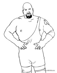 big show color and print the bog show coloring page wrestling coloring pages
