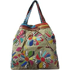 @Overstock - Bold and chic, this handcrafted tote from Amerileather features bright floral patchwork accents. With soft leather and canvas construction, this roomy bag is finished with an adjustable shoulder strap and double top woven handles.http://www.overstock.com/Clothing-Shoes/Amerileather-Sienna-Leather-Tote-Bag/6385513/product.html?CID=214117 RUB              2829.13