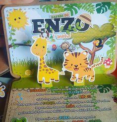 Uma fofura o convite de 1 aninho do Enzo!   #safari #convite #convitesafari #popup #scrapdecora #scrapbook #invite #papercraft #feitoamao #papercut #amo #personalizado #papelariapersonalizada #designerscrap
