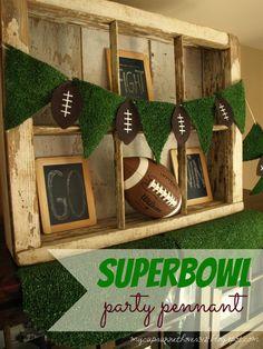 SUPER BOWL PARTY DECOR and FREE FOOTBALL SUBWAY ART