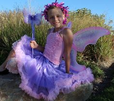 Pink and Purple Butterfly Fairy Pettiskirt 5 by Passion4Expression, $73.00