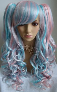 "Note to self: Do need this wig. XD Love how it seems so ""toned down"" compared to usual half & half wigs."