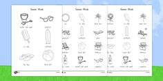 This handy set of colouring sheets gives your children the opportunity to practise their colouring and fine motor skills, as well as giving them something lovely to take home with them or put up on display. Differentiation, Fine Motor Skills, Coloring Sheets, Seaside, Words, Summer, Colouring Sheets, Summer Time, Motor Skills