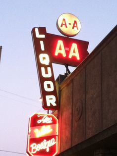 the AA meeting is behind the liquor store...