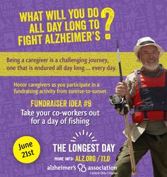 What will you all day long to fight #Alzheimers on #TheLongestDay? How about #fishing?