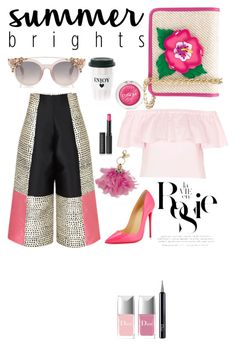 """tricky cullot vs summer bright"" by dewifuztie ❤ liked on Polyvore featuring Christian Louboutin, Yazbukey, Christian Dior, Sophie Hulme, Clinique, Topshop, Le Métier de Beauté, Whiteley and summerbrights"