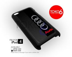 AJ 4109 Audi Carbon Logo Design - iPod 4 Case | toko6 - Accessories on ArtFire