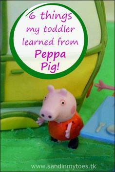 My toddler loves watching Peppa Pig, and has even learned a few things from the show! #parenting #toddlers