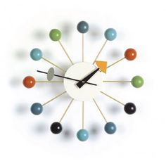 Shop the authentic Nelson Ball Clock, a George Nelson Clock, one of more than 150 clocks designed by George Nelson Associates for the Howard Miller Clock Company from now produced by Vitra Design Museum. Shop the George Nelson Ball Clock.