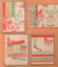 Washi Tape Cards, I ♥ washi, so fun to use!