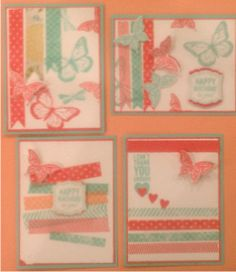 Washi Tape Cards, I ♥ washi, so fun to use!