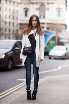 oh yep fab. Anouska I am loving that white leather topper. London.