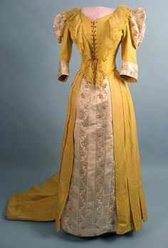 Reception dress, late 1880's