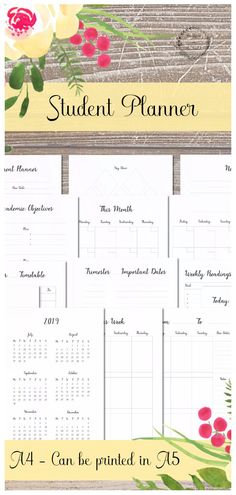 Office Supplies & Stationery Business, Office & Industrial Personalised 2019 Organiser Planner Diary Office Student Uni College Large Drip-Dry
