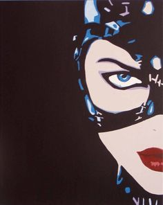 cat woman pop art
