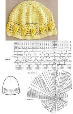 Шапочка крючком. Схема шапочки this pattern is free! Crochet Hat