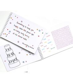 Something to keep you happy activity books for children wedding colouring books - Another Gorgeous Day