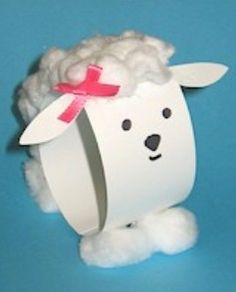 Paper Loop Lamb - A sweet Easter craft for kids / Free Kids Crafts