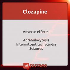 Clozaril is generic name.  You must be AWARE of the effects clozapine has on the patient. My husband and I were just talking about a research paper he wrote in college about psych drugs. Know them. They can have dangerous side effects.