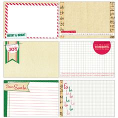 Be Merry - Large Journaling Tags :: Be Merry :: By Collection :: Elle's Studio Tags :: Elle's Studio