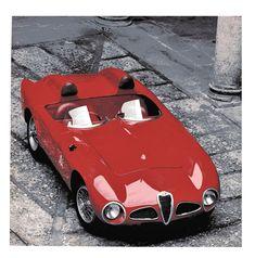 "Alfa Romeo ""Disco Volante"" 6C 3000 CM (00127) victorieuse à Supercortemaggiore avec Fangio au volant - Automobiles Classiques N°57 août septembre 1993. #alfaromeodiscovolante"