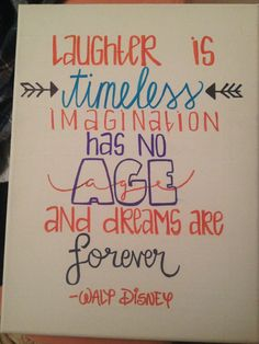 Walt Disney Canvas Quote by HeyKateCreations on Etsy
