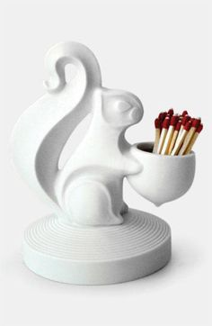 Cute! Squirrel Match Strike by Jonathan Adler.
