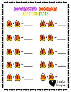 Halloween is such a fun time of year! This is one of many products in Halloween in the Special Education Classroom. Get this fantastic product to use with your special education students during Halloween time. To help students solve these facts, use candy corn as hands on manipulatives.