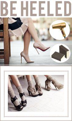 how to break in a new pair of heels! xo