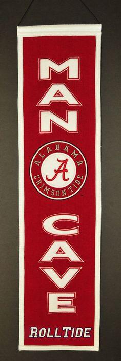 Alabama Crimson Tide Wool Man Cave Banner