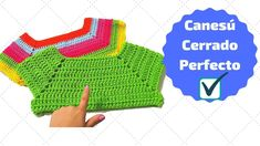 CANESÚ  CERRADO TEJIDO PERFECTO - EN TODAS LAS TALLAS Crochet Woman, Love Crochet, Crochet Granny, Crochet For Kids, Knit Crochet, Crochet Toddler Dress, Crochet Baby Clothes, Crochet Blanket Patterns, Crochet Stitches