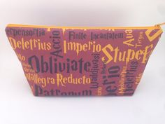 Harry Potter Spells Makeup Bag by WhittyCreations on Etsy