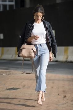 Pin for Later: When It Comes to Street Style, Alessandra Ambrosio Has the Perfect Formula May in New York City