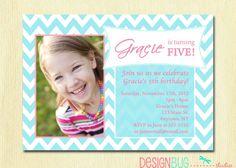 Items Similar To Girls Birthday Party Photo Invitation