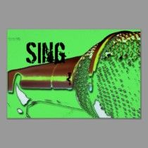 sing poster posters by dna_GRAFIX