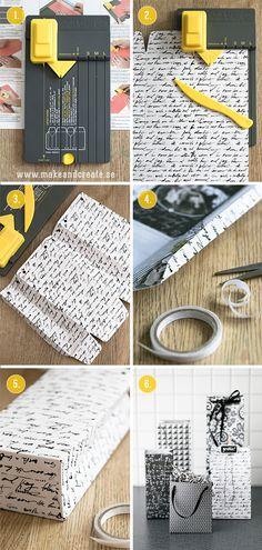 Presentpåsar med hjälp av en stansmall - Pyssel och pysseltips - Make and Create