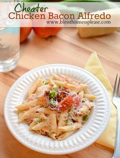 Quick and Easy Chicken Bacon Alfredo Pasta