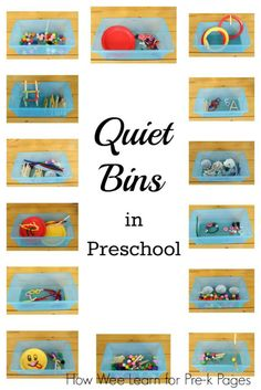 the Most from Quiet Bins Getting the Most from Quiet Bins in your preschool classroom. Perfect for non-nappers during nap time!- Pre-K PagesGetting the Most from Quiet Bins in your preschool classroom. Perfect for non-nappers during nap time!- Pre-K Pages Preschool Rooms, Preschool Centers, Preschool Lessons, Preschool Crafts, Quiet Time Boxes, Busy Boxes, Quiet Time Activities, Classroom Activities, Preschool Classroom Setup