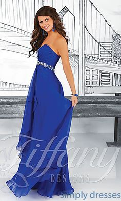 Strapless Sweetheart Prom Dress with Ruched Bodice at SimplyDresses.com