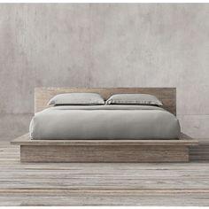 Reclaimed Russian Oak Platform Bed, restoration hardware bed