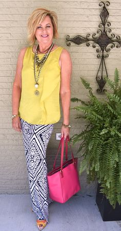 50 IS NOT OLD | STYLE PRINTED PALAZZO PANTS