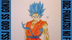 Drawing Time Lapse: SSJ God SS Goku (DBZ: Fukkatsu no F / Resurrection o...