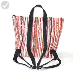 Handmade Backpack of Recycled Rag Rugs - Fun stuff and gift ideas (*Amazon Partner-Link)